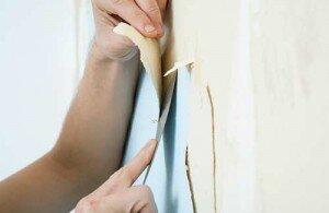 Behang verwijderen van gipsplaat