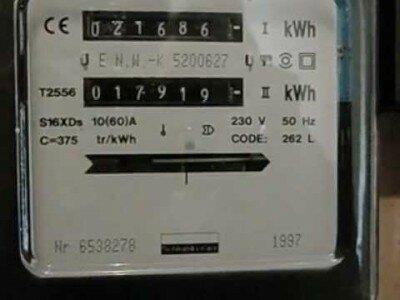 Kilowattuurmeter (kWh-meter)