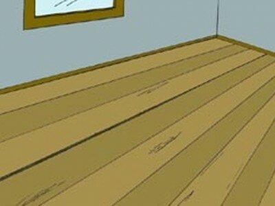 Kraken van houten vloer verhelpen
