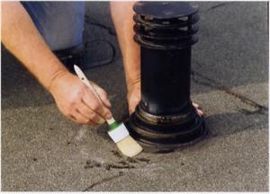 Lekkage dakdoorvoer plat dak repareren 2
