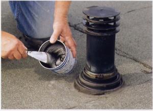 Lekkage dakdoorvoer plat dak repareren 3