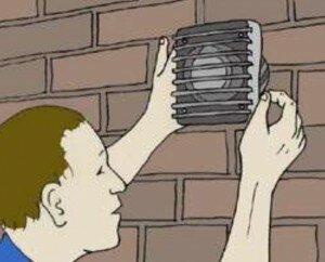 Muur ventilator plaatsen 10