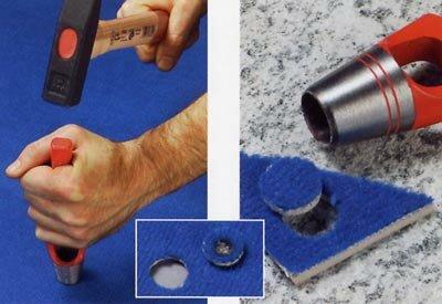 Vlekken verwijderen uit tapijt, de vlek uitstekken