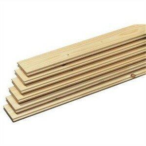 Vloerplanken met messing en groef