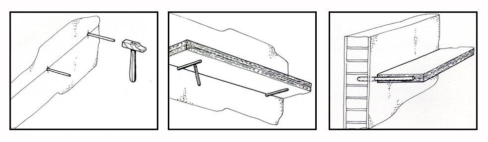 Plank Bevestigen Muur.Plank Aan Muur Bevestigen Zonder Boren