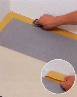 Zelf tapijt leggen, dubbelzijdig plakband aanbrengen
