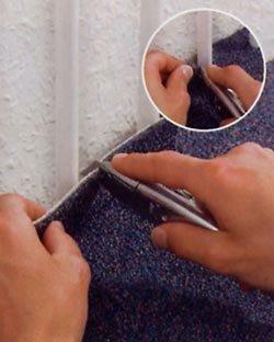 Zelf tapijt leggen, obstakels: buizen